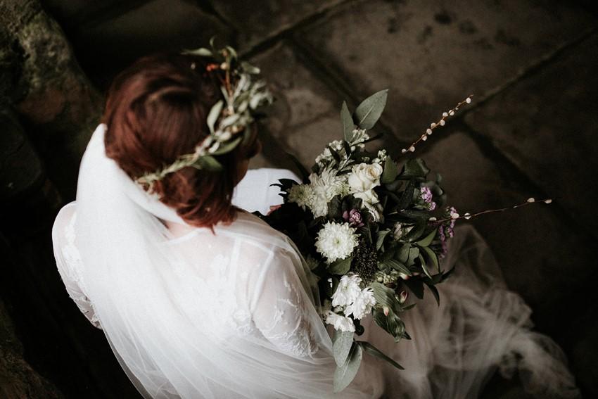 Bridal Flower Crown & Bouquet