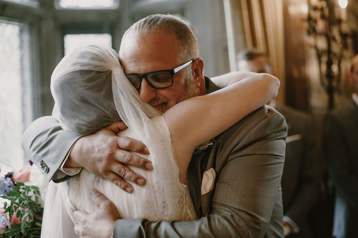 Bride & Father Hug