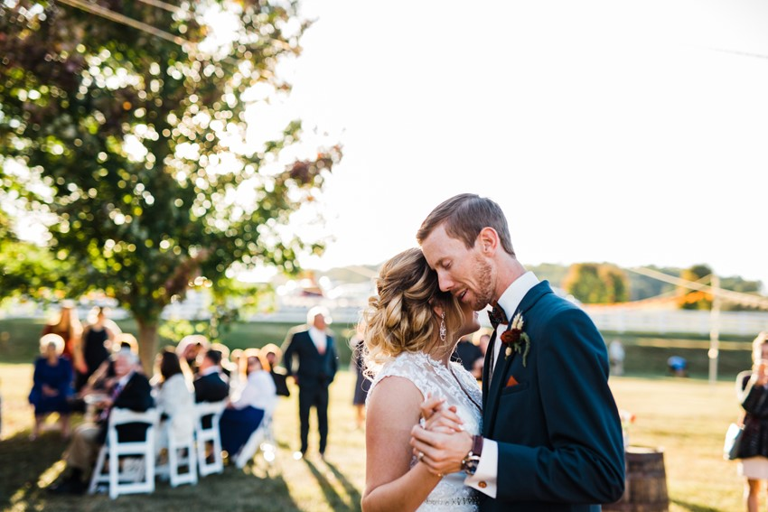 Rustic Fall Wedding First Dance