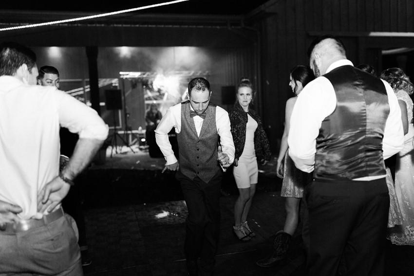 Rustic Fall Wedding Dance Floor
