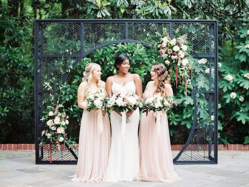 Elegant Bride & Blush Bridesmaids