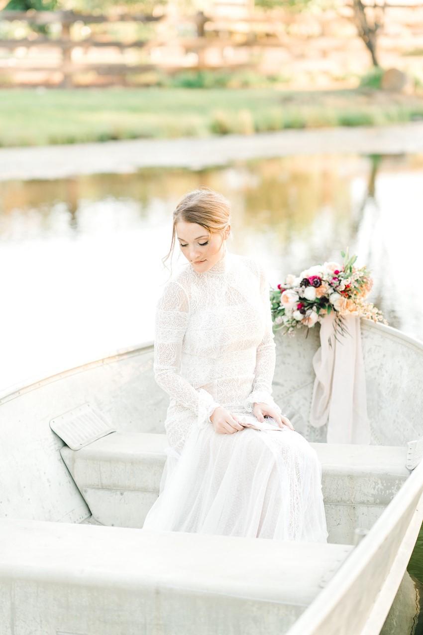 Bride in a Row Boat