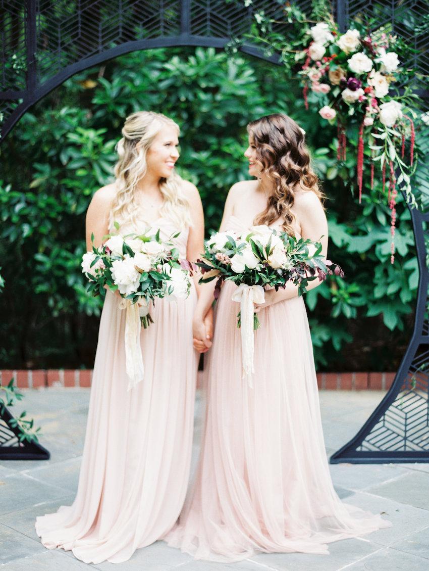 Romantic Blush Bridesmaids