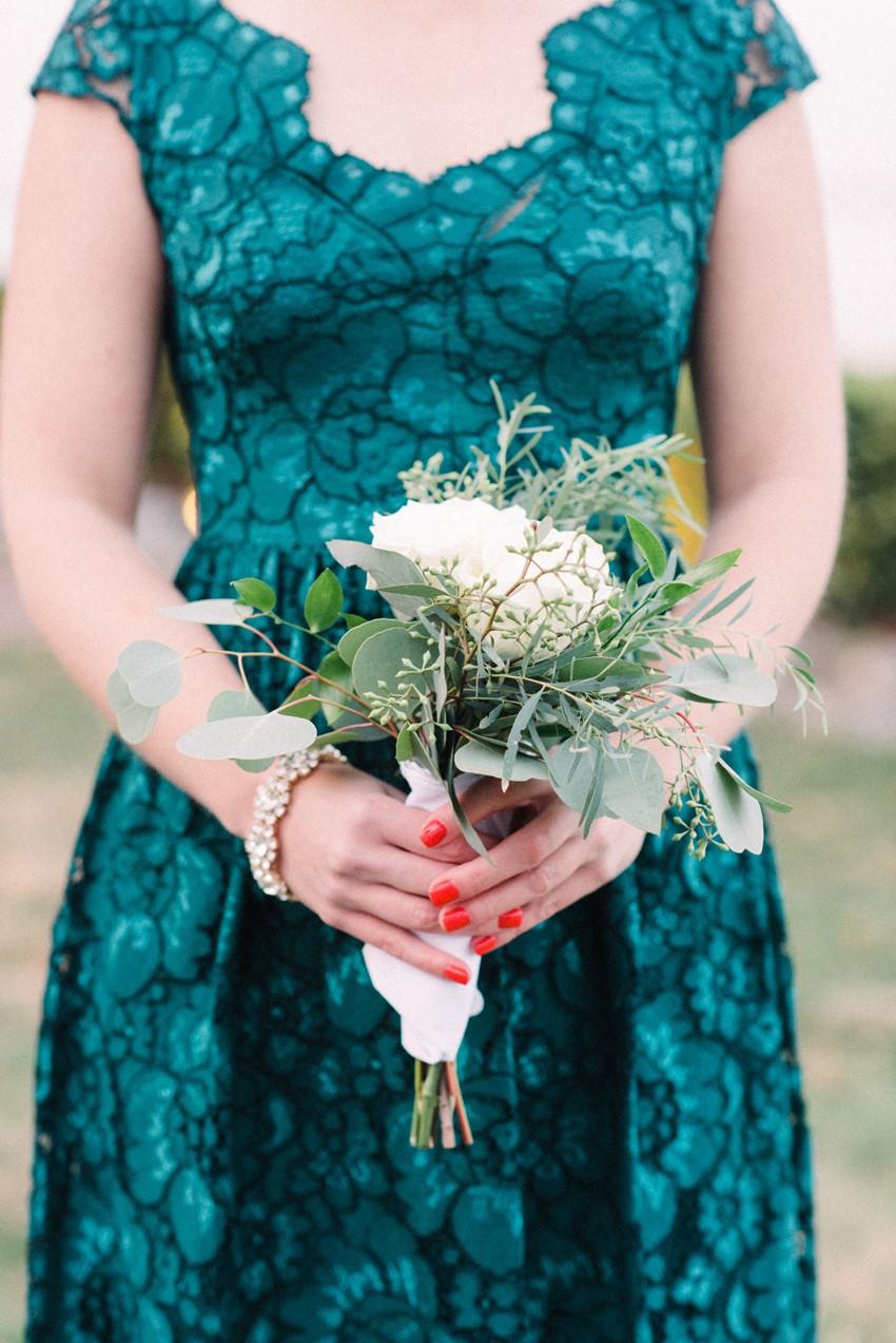 Teal Vintage Bridesmaid Dress