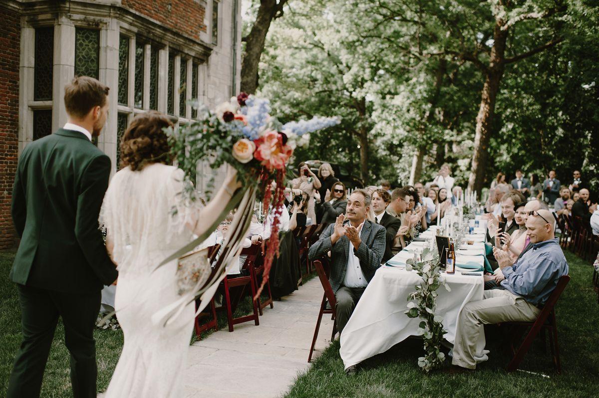 Bride & Groom Wedding Reception Entrance