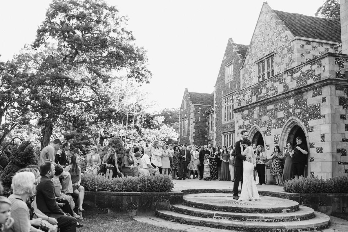 Outdoor Vintage Wedding First Dance