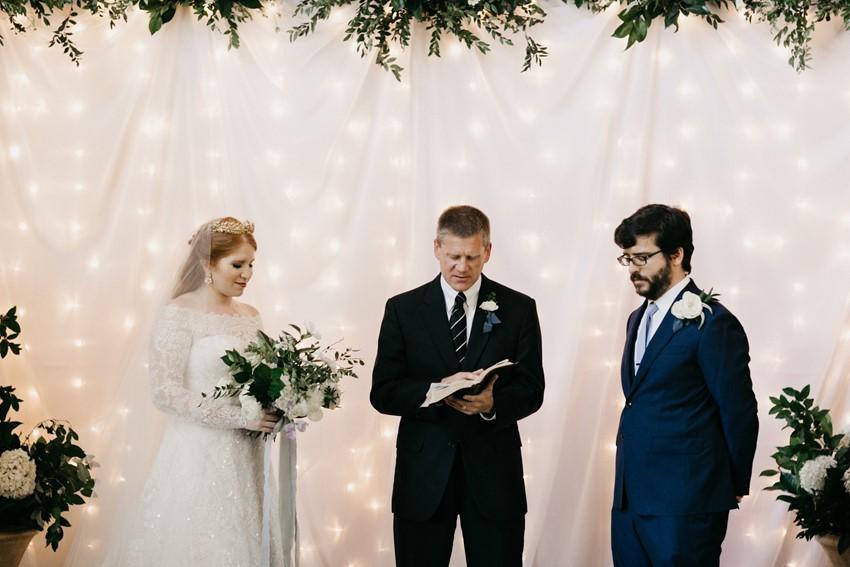Romantic Indoor Wedding Ceremony