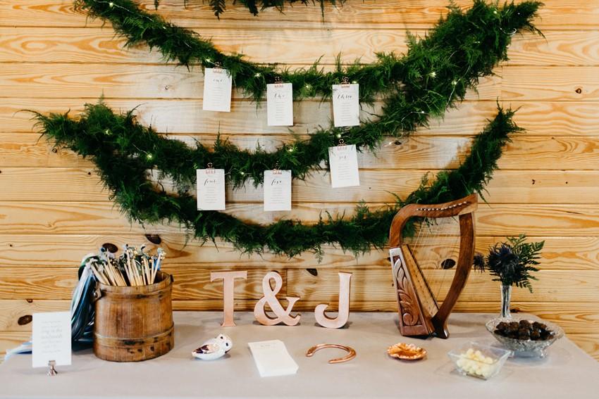 Greenery Wedding Seating Plan