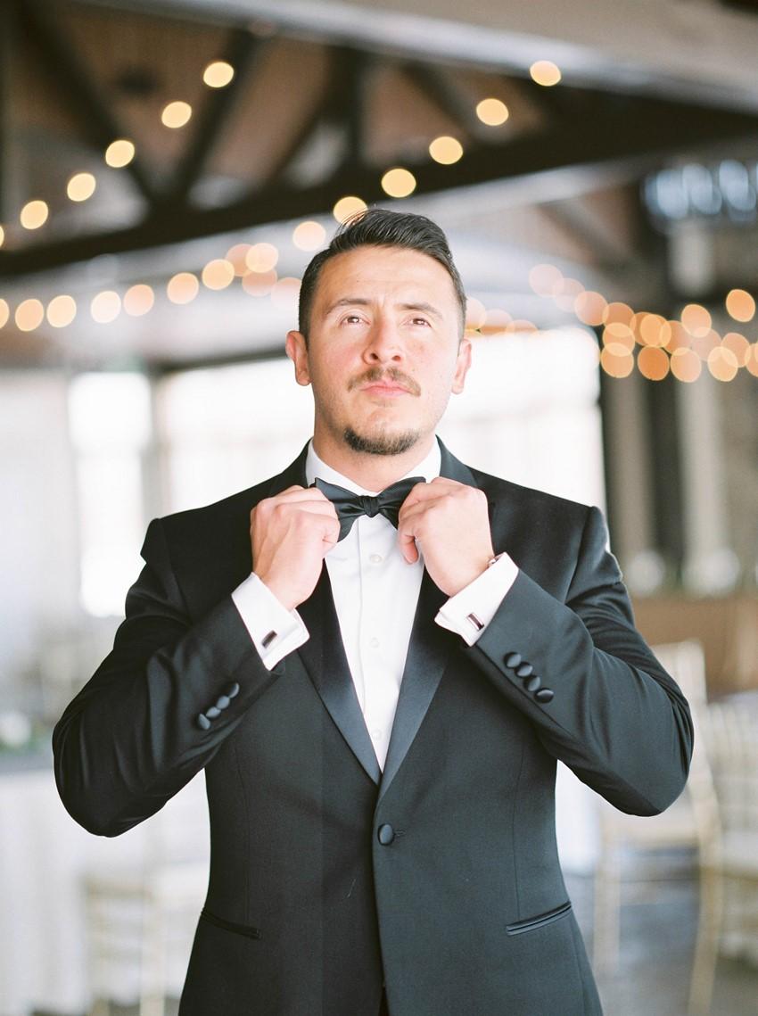 Groom in a Tuxedo