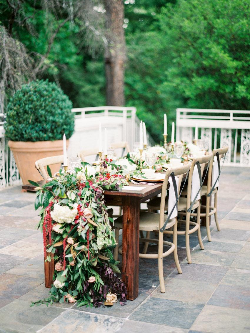 Marsala Wedding Table