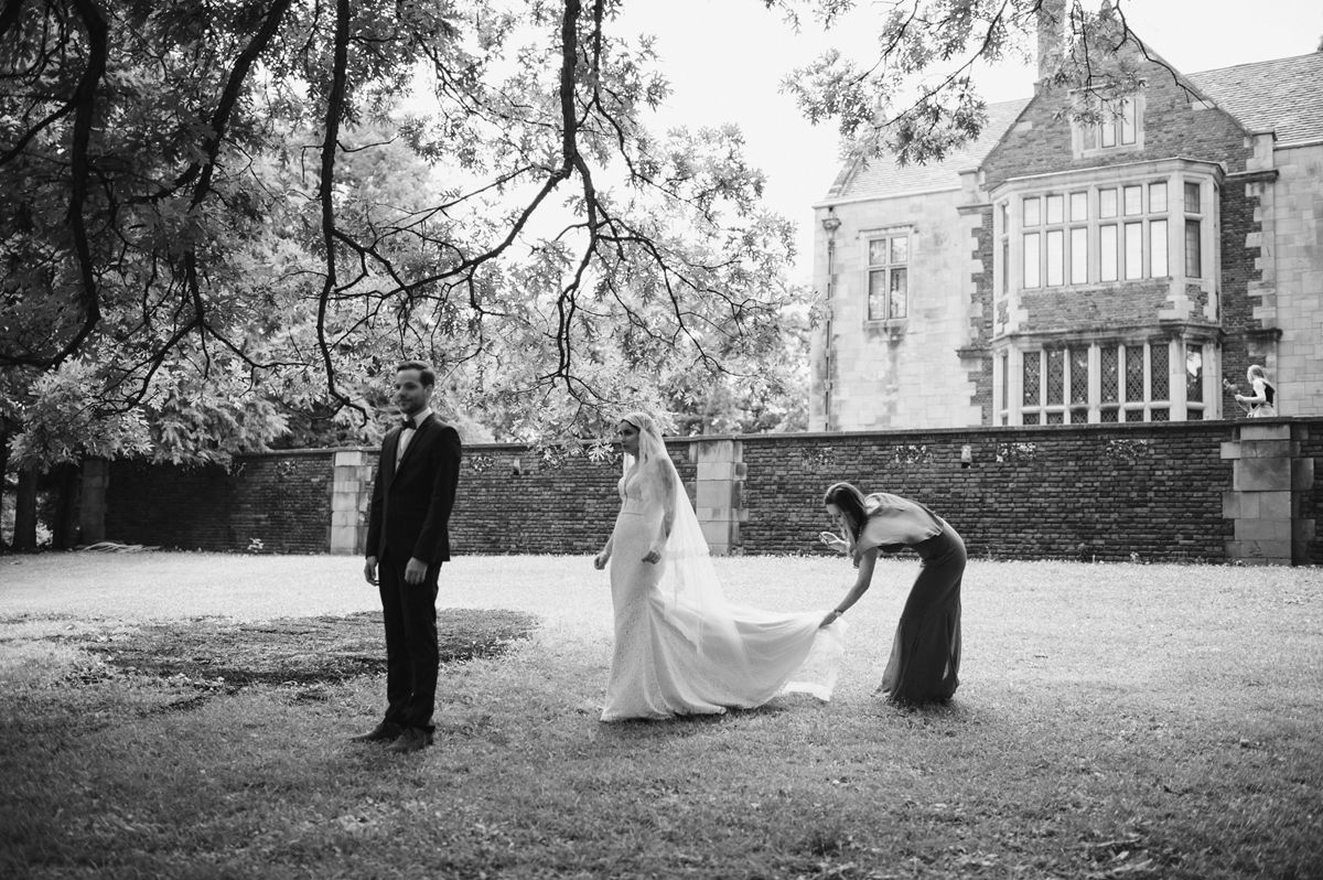 Romantic Vintage Wedding First Look