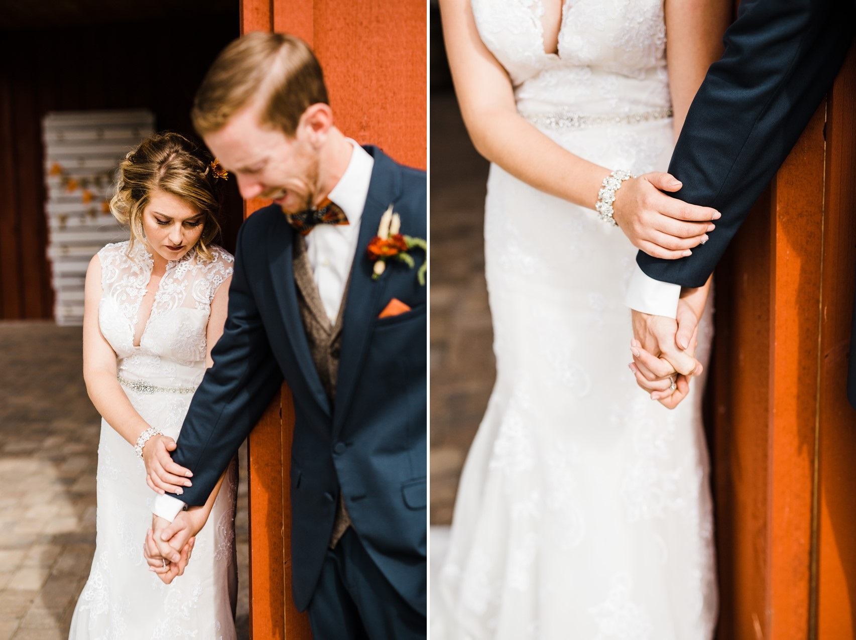 Rustic Wedding First Look