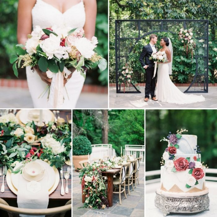 Romantic Swan Coach House Wedding Inspiration
