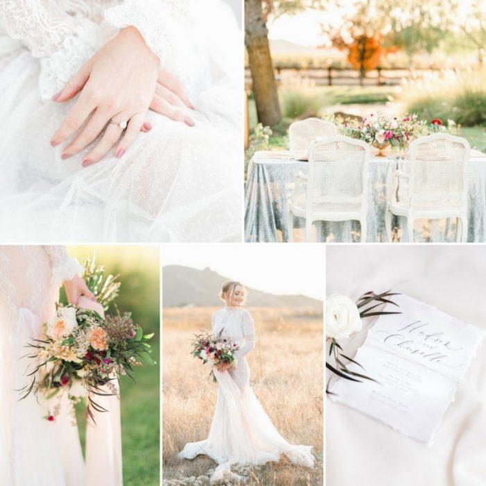 Romantic Wedding Inspiration at Willow Tree Pond