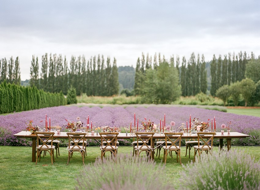 Woodinville Lavender Farm Wedding Table