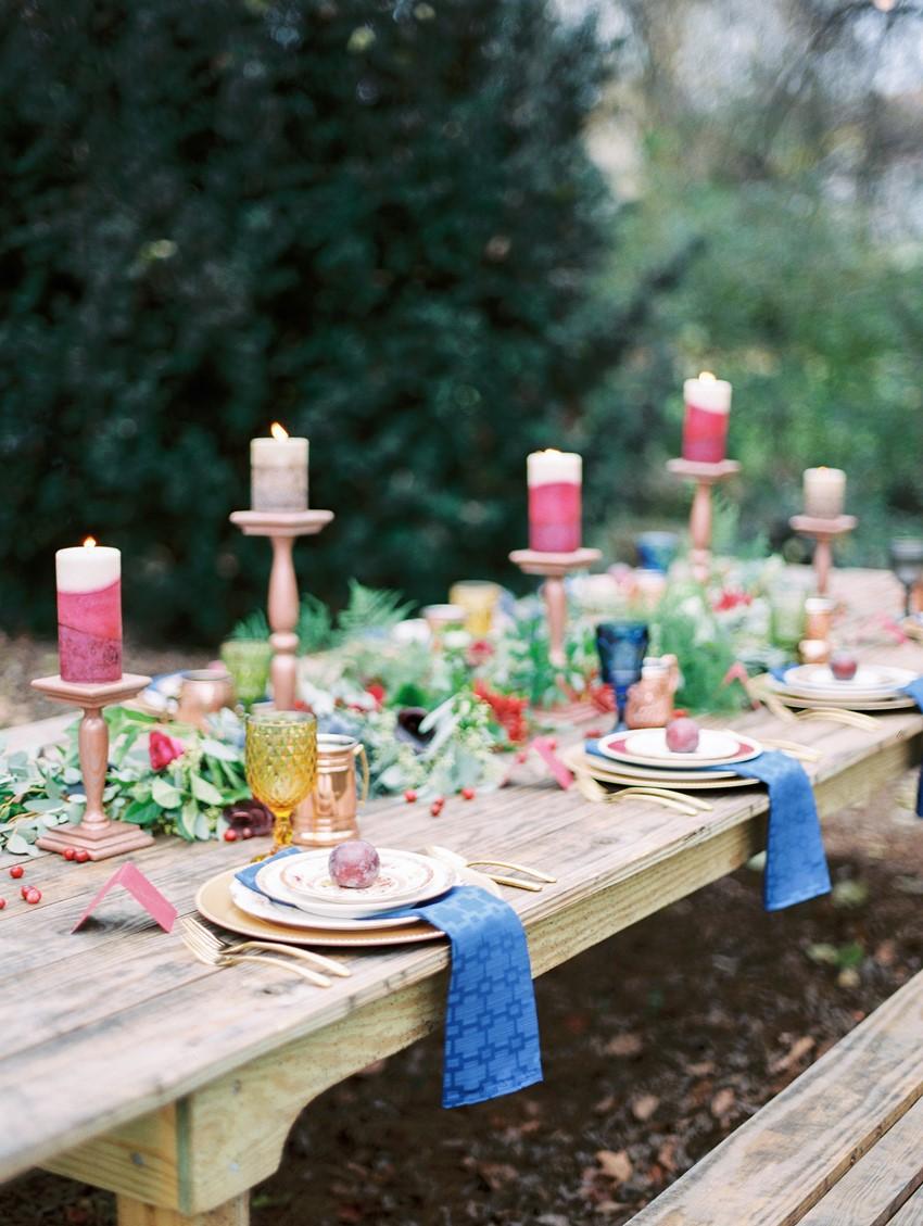 Rustic Winter Wedding Tablescape