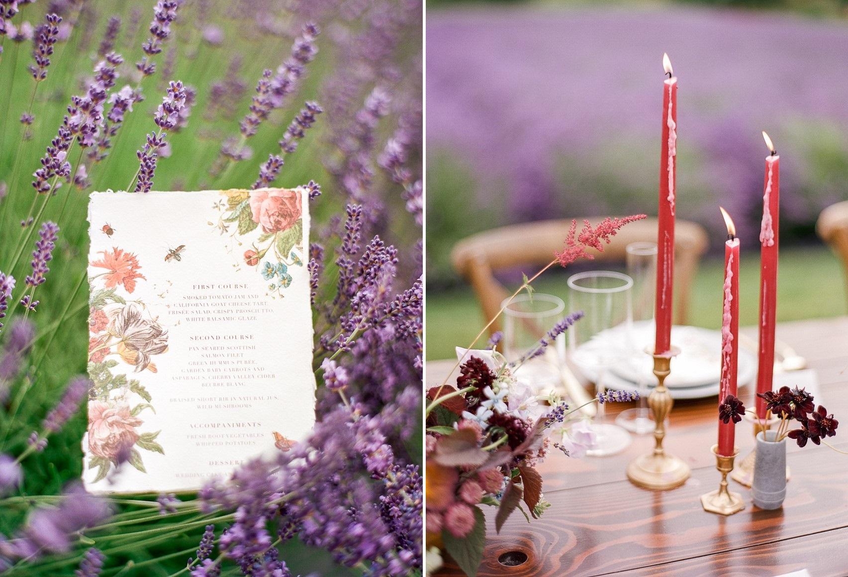Romantic Lavender Field Wedding Inspiration - Chic Vintage