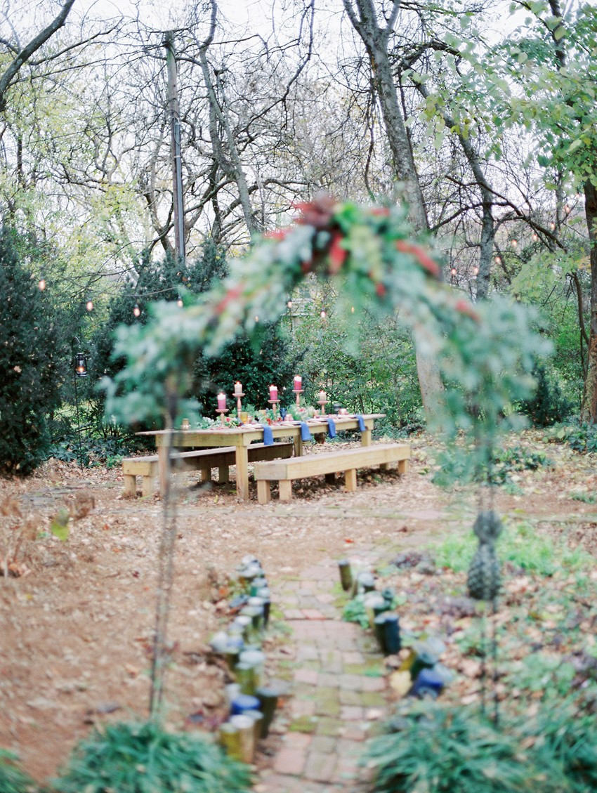 Rustic Winter Wedding Table