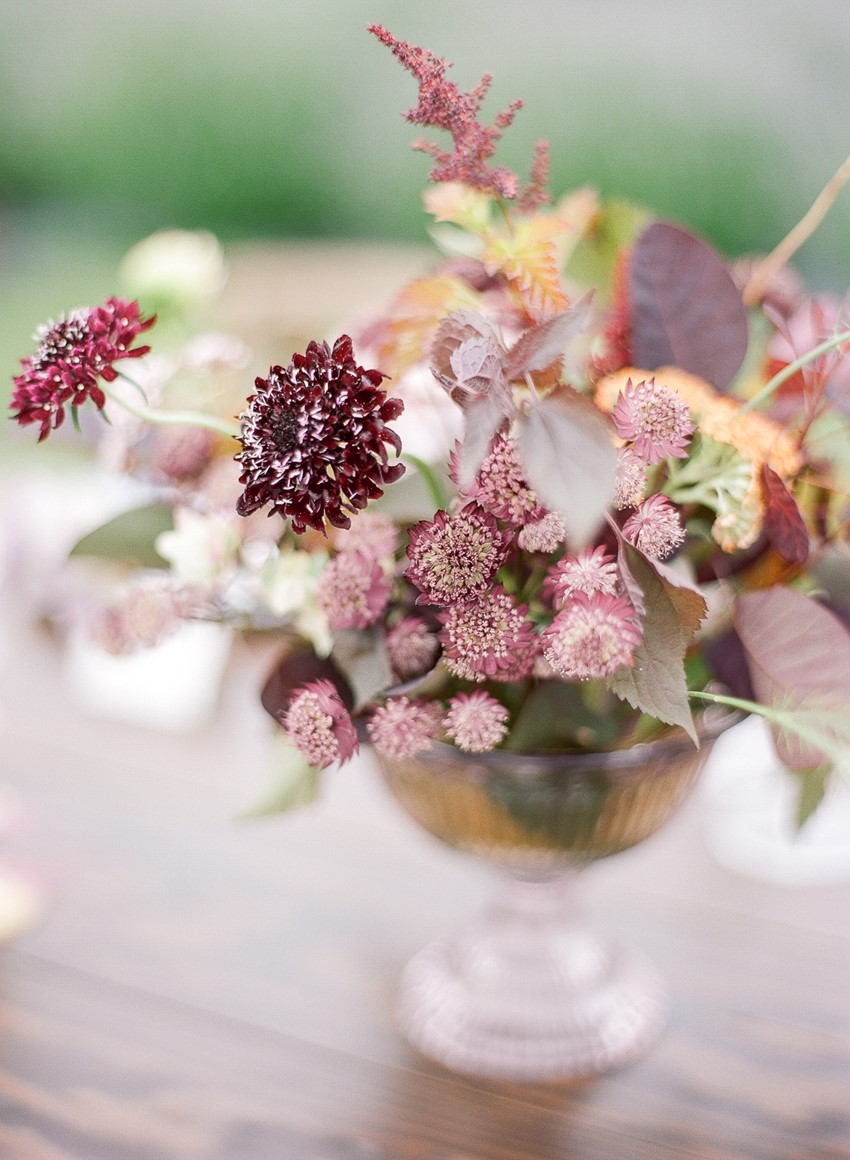 Woodinville Lavender Farm Wedding Centerpiece
