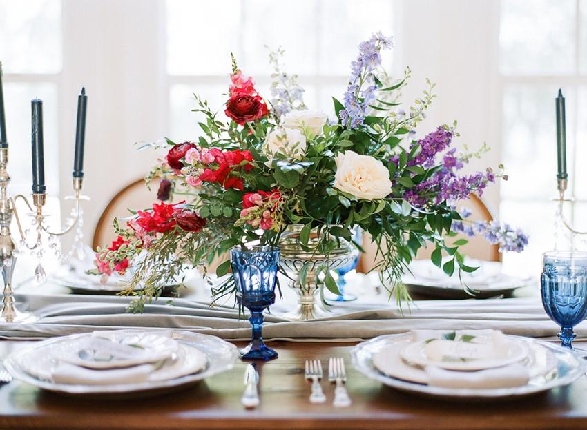 Hamilton Wedding Inspiration Floral Centerpiece