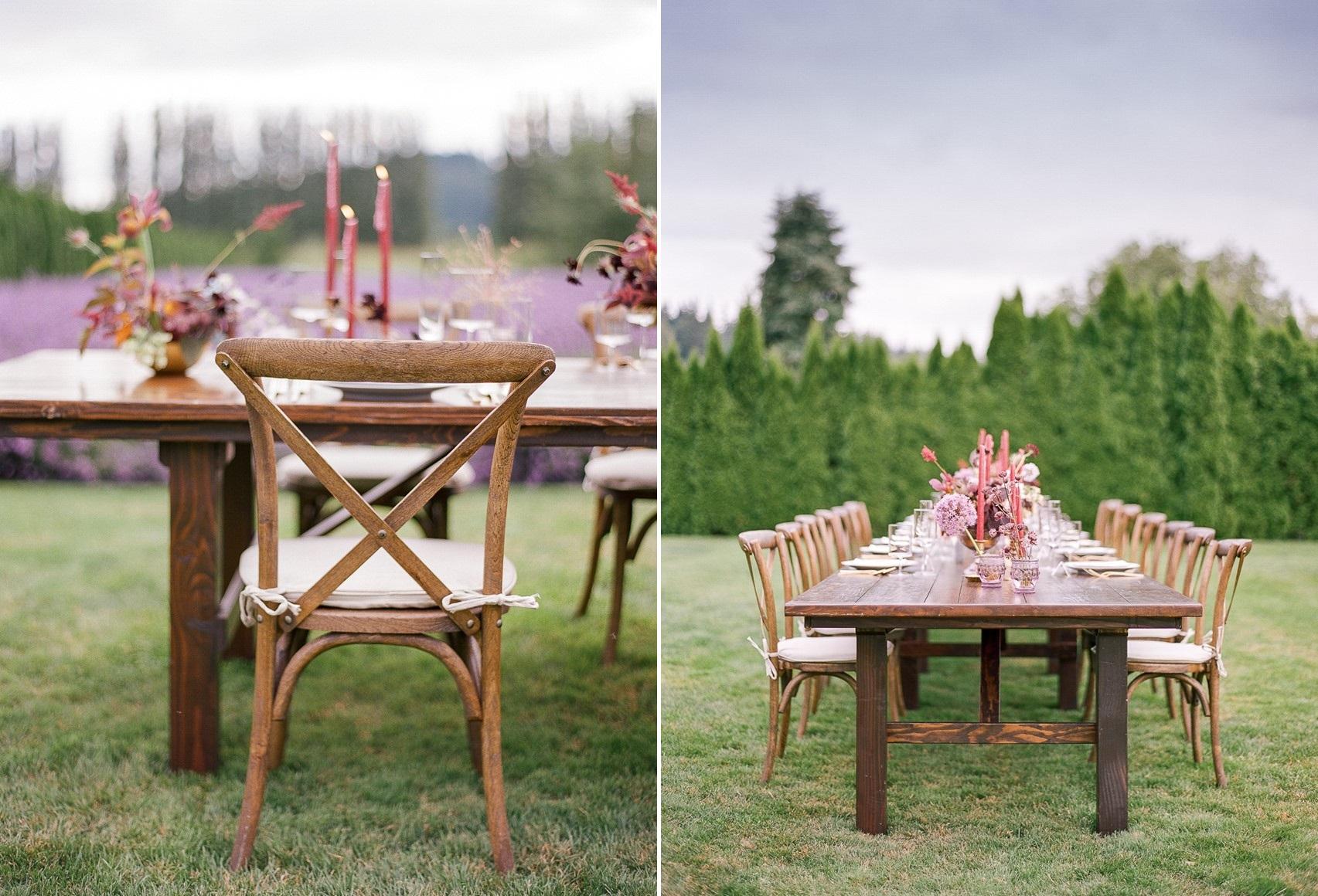 Woodinville Lavender Farm Wedding Table