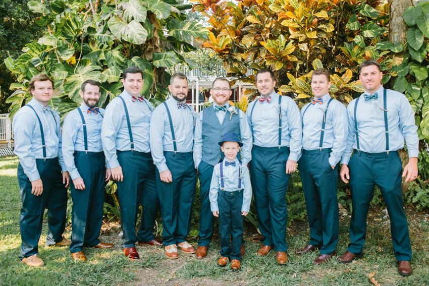 Groom & Groomsmen in Suspenders