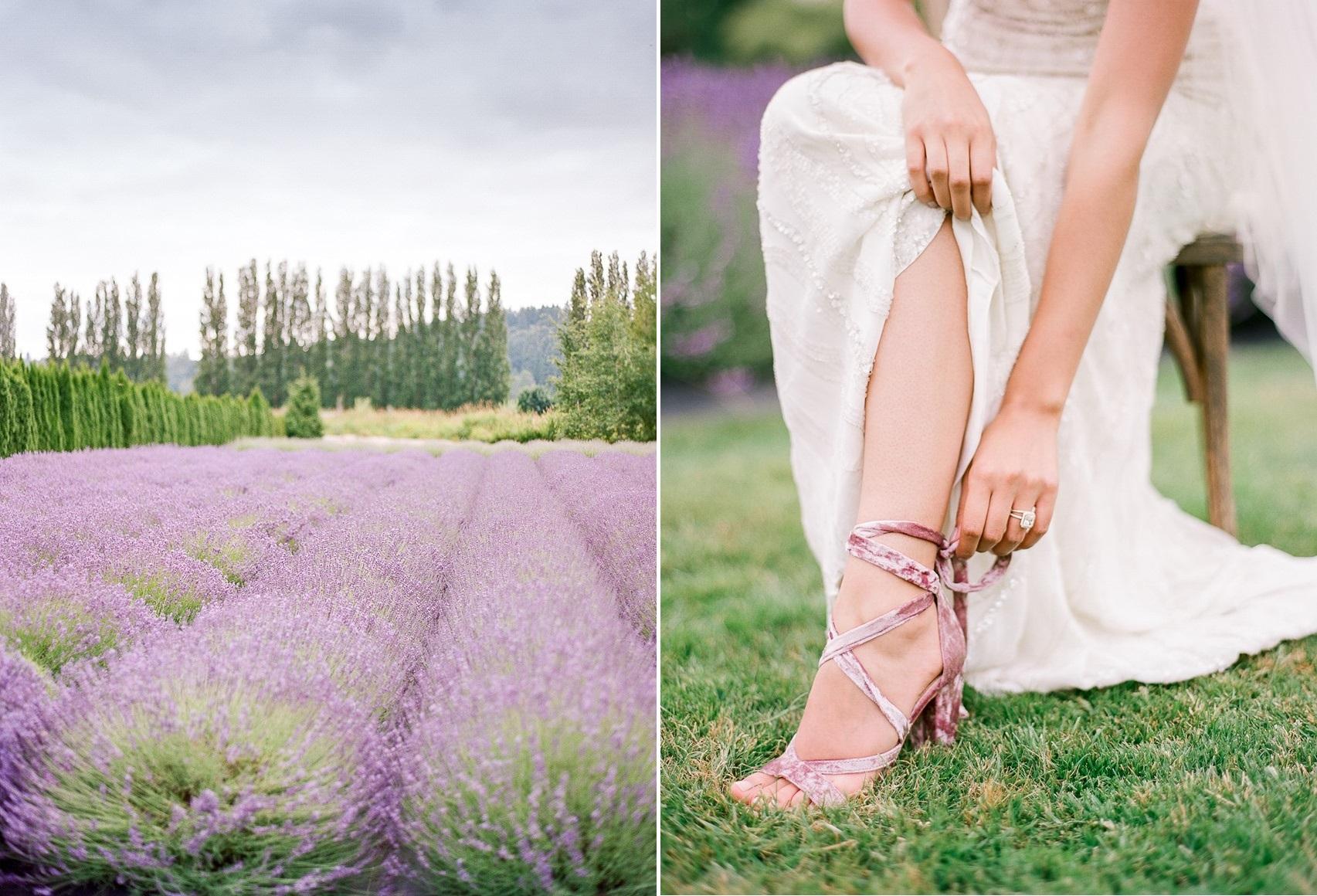 Romantic Lavender Field Wedding Inspiration - Chic Vintage Brides