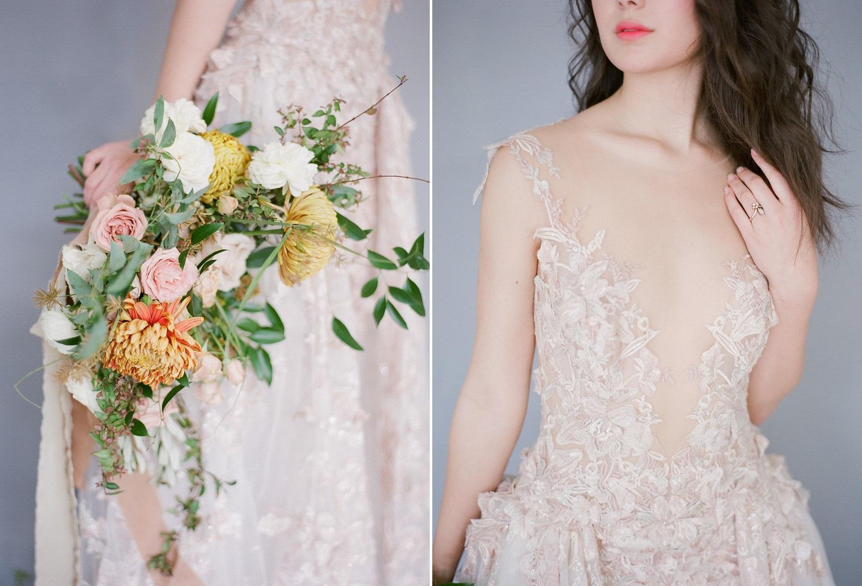 Orange & Yellow Bridal Bouquet