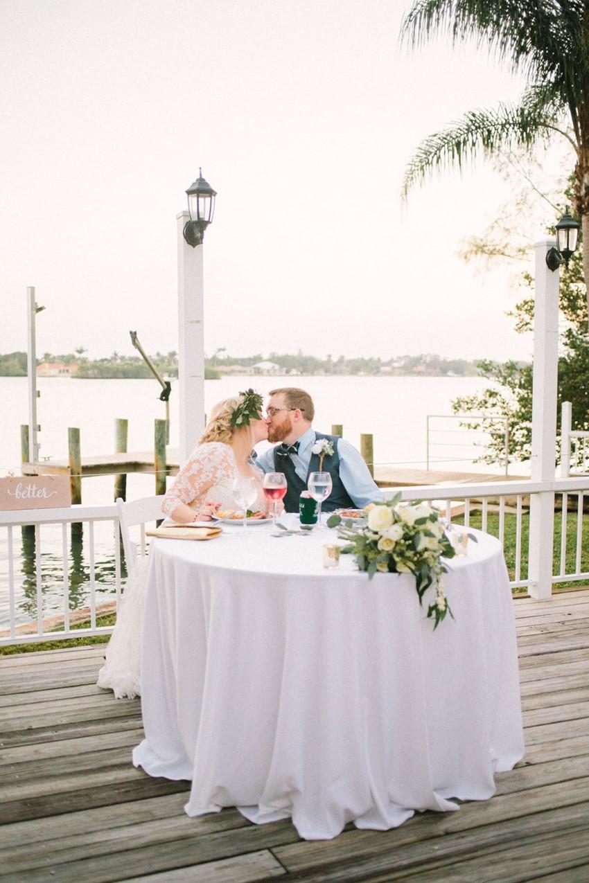 Lakeside Wedding Sweetheart Table