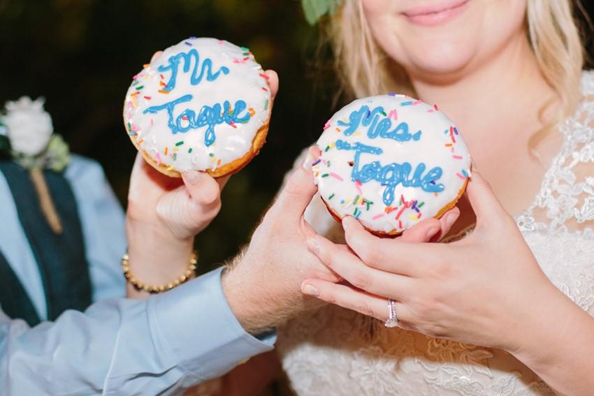 Personalised Wedding Donuts