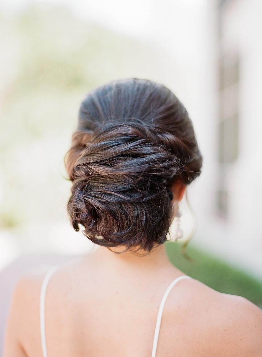 Hamilton Wedding Inspiration Bridal Updo