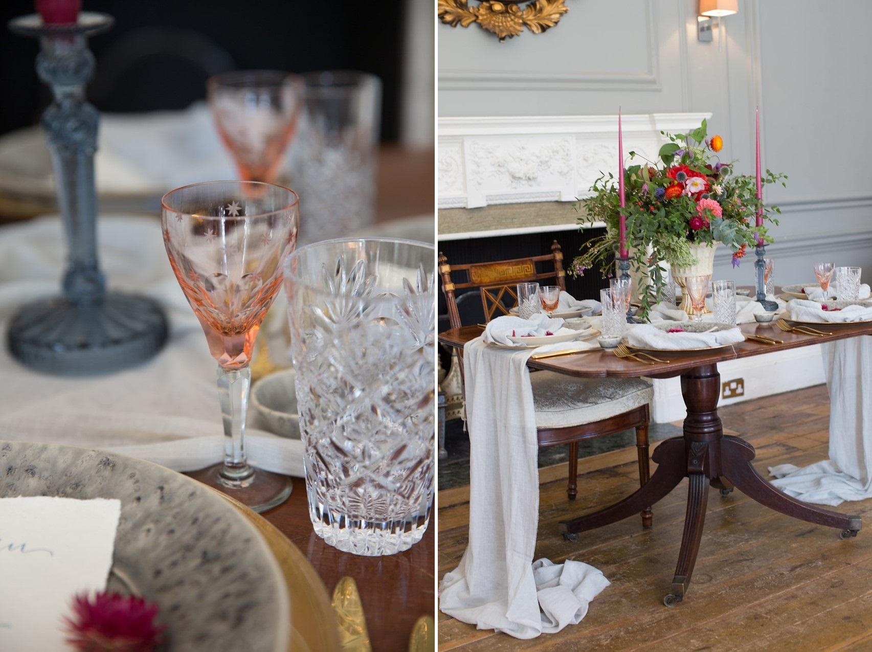 English Manor Wedding Table