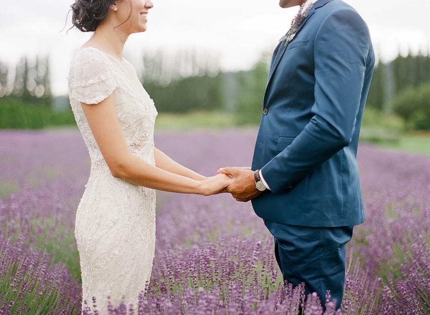 Woodinville Lavender Farm Wedding Ceremony