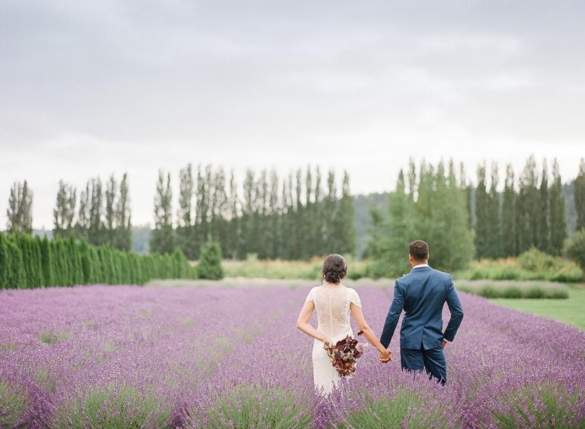 Woodinville Lavender Farm Wedding Photos