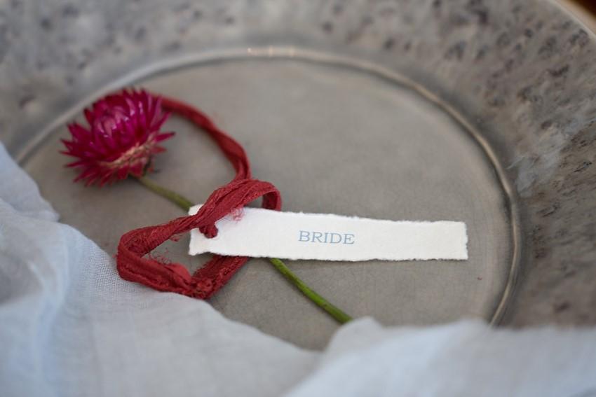 Bride Calligraphy Escort Card