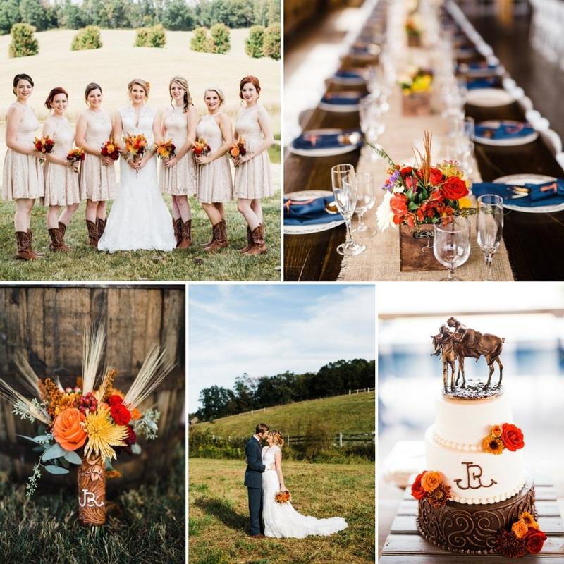 Fall Rustic Barn Weddings: A Rustic Vintage Wedding At Grace Meadows Farm