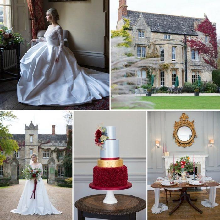 English Manor Wedding Inspiration in Garnet & Blue
