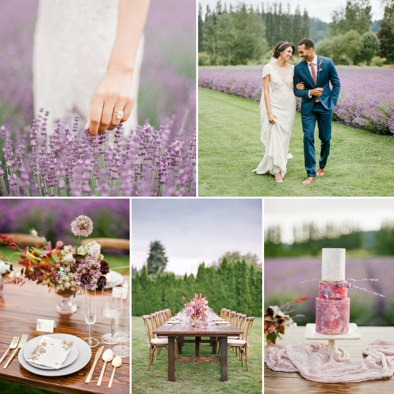 Romantic Lavender Field Wedding Inspiration