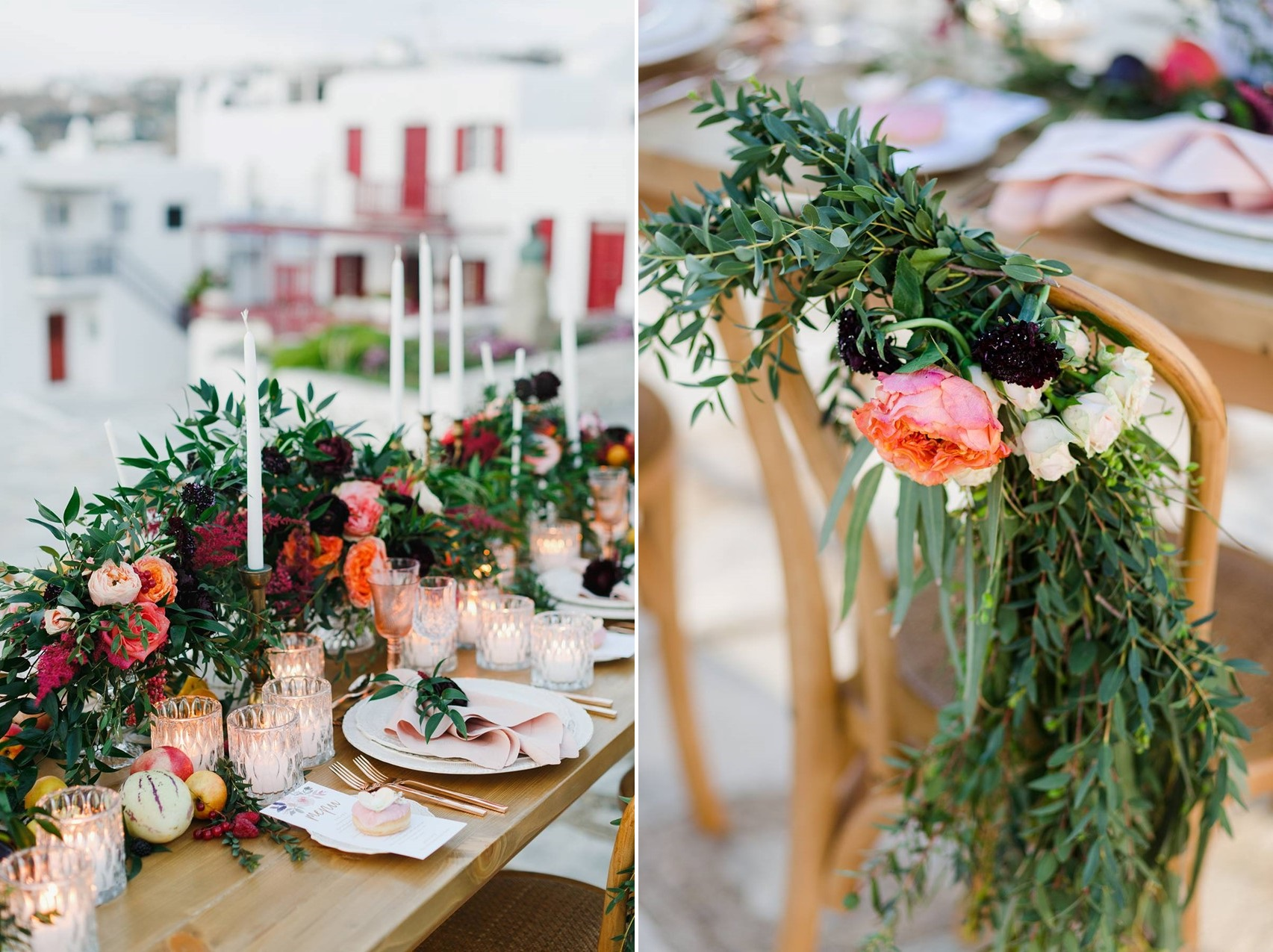 Lush Greenery Filled Wedding Flowers