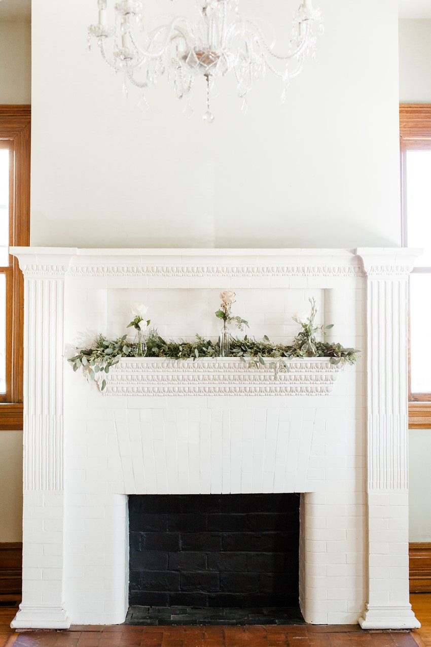 Fireplace Wedding Decor