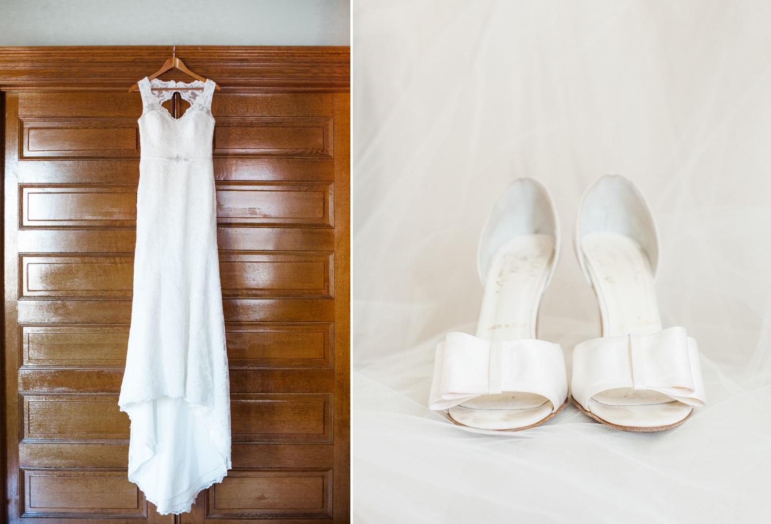 Wedding Dress & Bridal Shoes