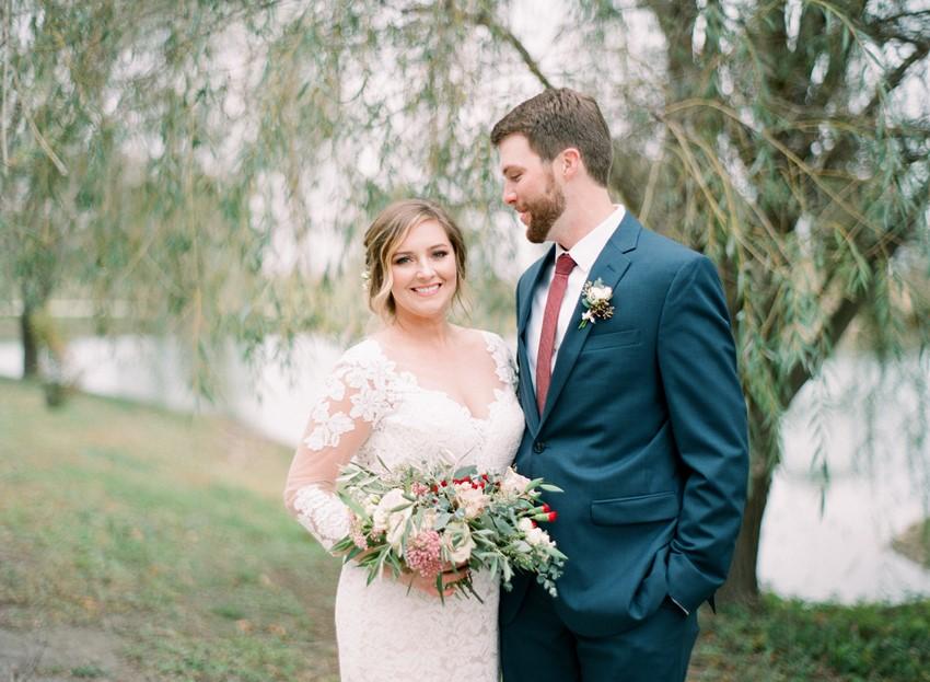 Fall Hidden Lake Winery Wedding