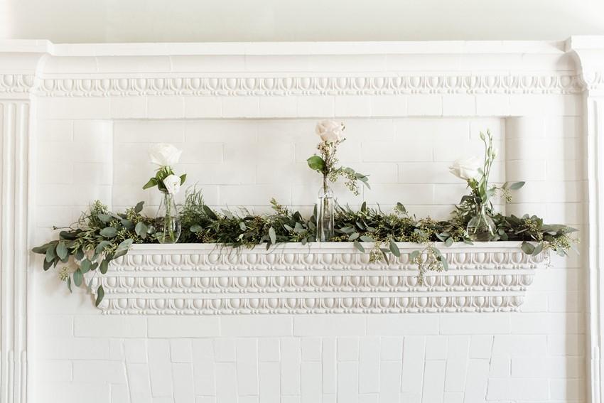 Mantel Wedding Flowers