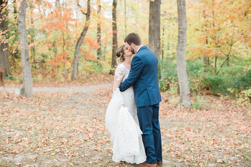 Romantic Fall Wedding First Look