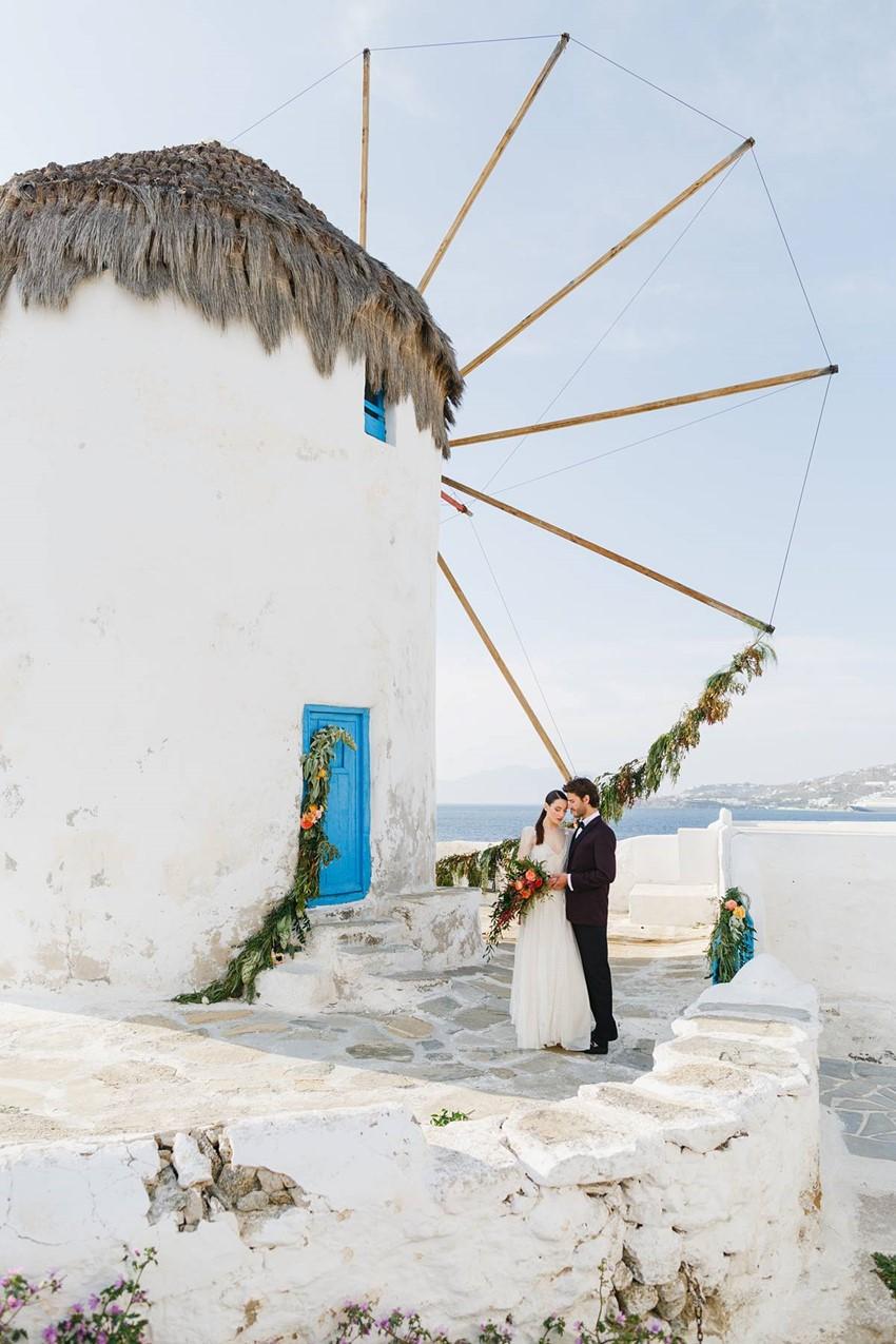 Mykonos Windmills Wedding Inspiration