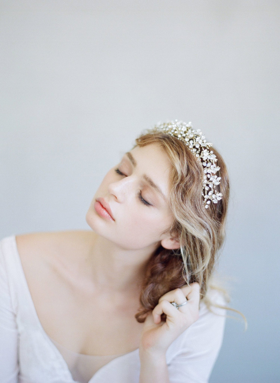 Bridal Tiara Fern Charm & Navette