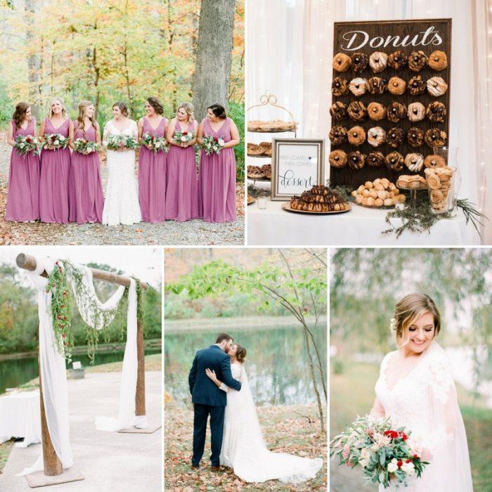 A Romantic Fall Wedding at Hidden Lake Winery