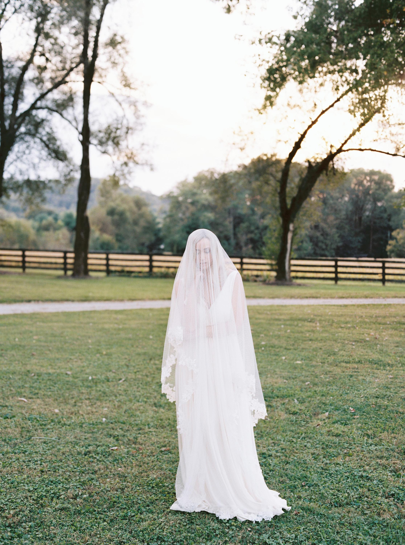 Lace Edged Bridal Veil