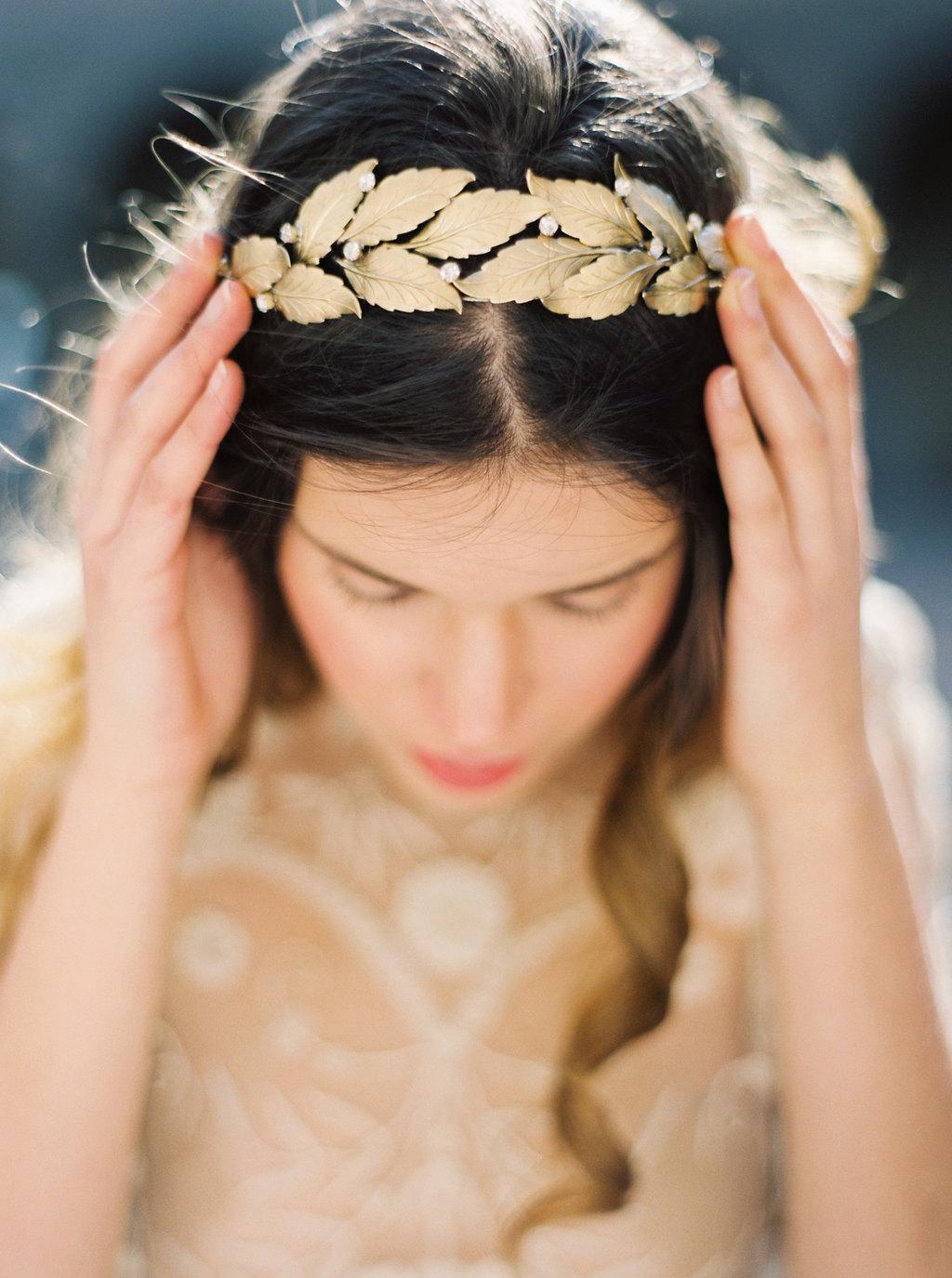 Laurel Leaf Bridal Crown