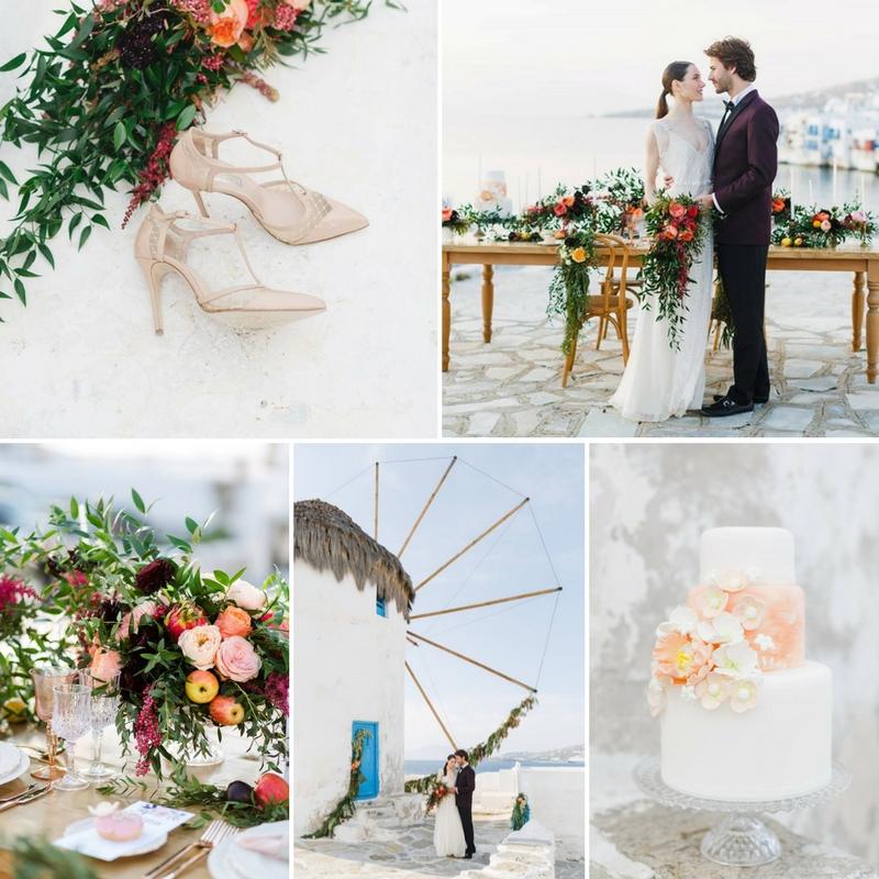 Destination Wedding at the Iconic Windmills of Mykonos